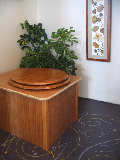 Full Circle wooden commode